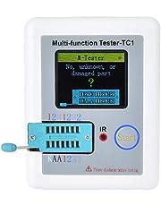 """Probador de componentes electrónicos, LCR-TC1 Detector de condensadores de pantalla LCD en color de 1.8"""", NPN PNP Transistor Comprobador de calibración automática, Resistencia de diodo triodo Medidor"""