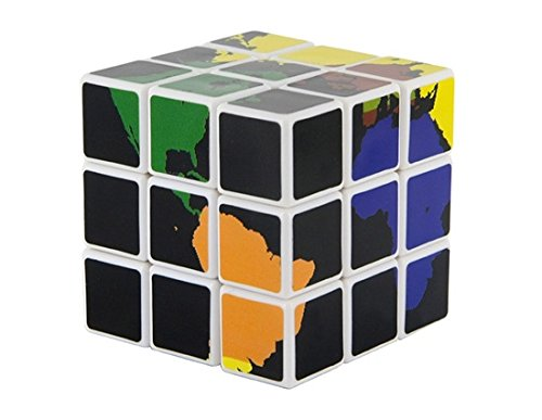 3 x 3 x 3 Hexa World Pattern Plastic Cube (Blue)