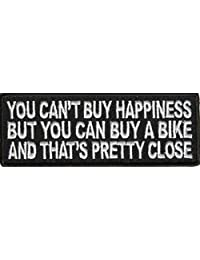 YOU CAN'T BUY HAPPINESS FUN Motorcycle Embroidered Biker Vest Patch! PAT-2985