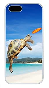 Protective PC Case Skin for iphone 4s White Fashion PC Case Back Cover Shell for iphone 4s with Tortoise Frisbee