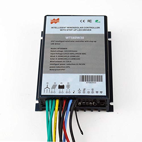 Mars Rock Intelligent Boost Hybrid Wind Solar Charge Controller Optional with or Without Constant Current Function LED Driver (Without Constant Current Function)