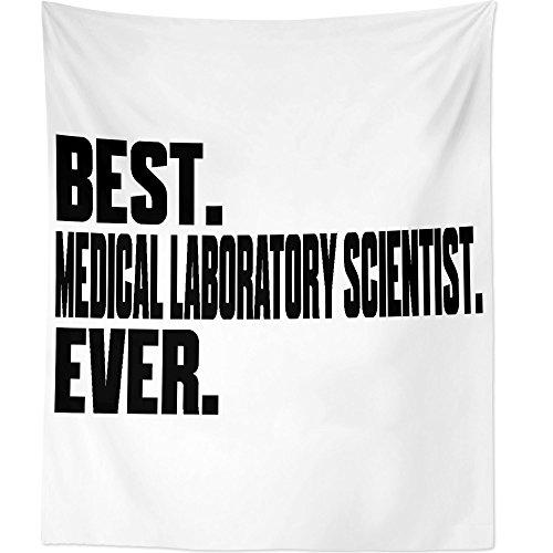 Westlake Art Best Medical Laboratory Scientist Ever2 - Wall Hanging Tapestry - Sayings Artwork Home Decor Living Room - 68x80 Inch (2001-C9749) by Westlake Art