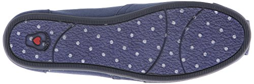 BOBS from Skechers Womens Plush Peace and Love Flat Navy QuT4E1kXt