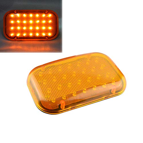 Magood Battery Operated Strobe Lights Flasher with Magnetic Base for Car Truck, SUV, Heavy Duty (Amber) ()