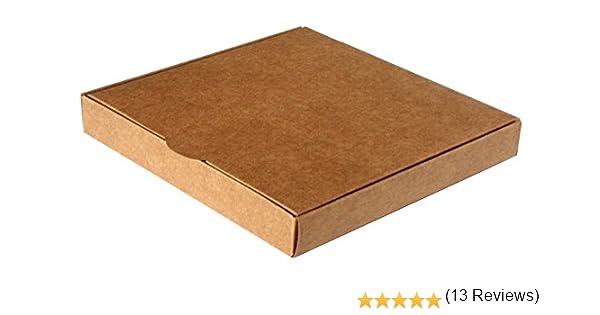 Caja para regalo automontable, set 25 unidades 16 x 16 x 2,5 Kraft ...