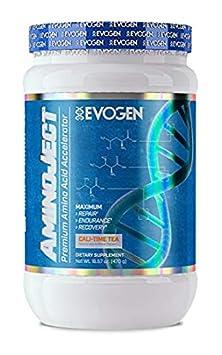 Evogen AminoJect, Vegan Fermented Plant Based BCAA, Glutamine, Citrulline Powder, Cali-Time Tea, 30 Servings