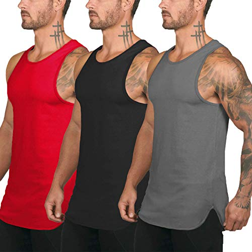 COOFANDY Men's 3 Pack Quick Dry Workout Tank Top Gym Muscle Tee Fitness Bodybuilding Sleeveless T Shirts – The Super Cheap