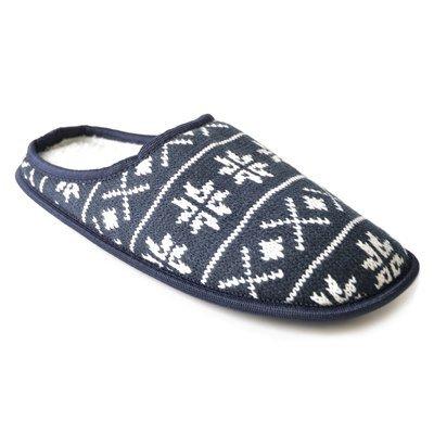 SK BRANDS - Zapatillas de estar por casa de Lana para hombre azul marino