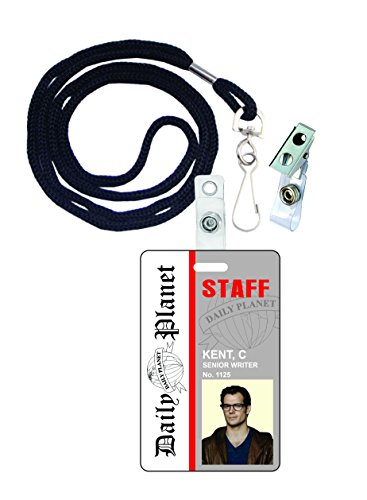Clark Kent Superman Novelty ID Badge Film Prop for Costume and Cosplay • Halloween and Party (Clark And Lois Costumes)