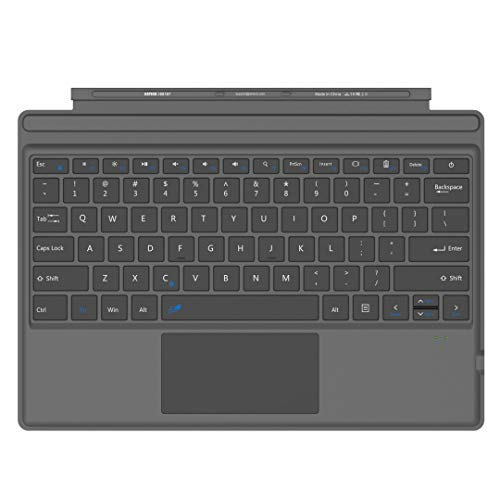 Arteck Microsoft Surface Pro Type Cover, Ultra-Slim Portable Bluetooth Wireless Keyboard with Touchpad Built-in Rechargeable Battery (Tamaño: Surface Pro Type Cover)