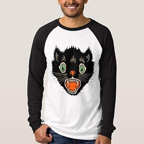 Ailovyo - Camisa de Halloween para Hombre y Mujer, diseño de Gato Negro Mutiple XX-Large: Amazon.es: Ropa y accesorios