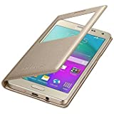 Sun Tigers Window Leather For Samsung On5 Pro With Tempered Glass Screen Protector , Gold