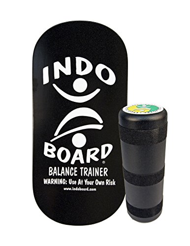 INDO BOARD Rocker 33'' X 16'' with 6.5'' Roller - High Performance Balance Board for Advanced Tricks - Black And Silver by INDO BOARD (Image #7)