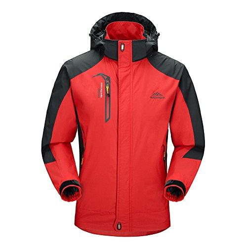 (BIYLACLESEN Men's Lightweight Zippered Pockets Jacket Rainproof Hoodie Jacket)