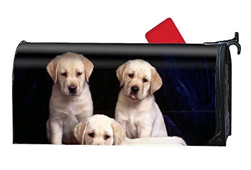 MALBX Cute Labrador Retriever Puppy Printed Mailbox Covers Magnetic Mailbox Makeover
