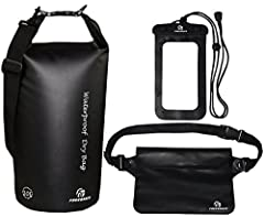 Make The Most Of Your Outdoor Activities And Keep All Your Stuff Perfectly Protected From Water Thanks To The Ultimate Waterproof Dry Bags Set!Following an active lifestyle and doing outdoor activities such as kayaking and rafting can be inco...