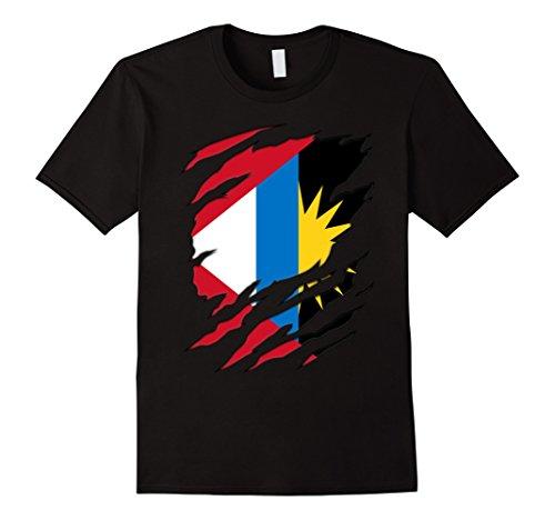 - Mens Super Antigua And Barbuda flag gifts Shirt XL Black