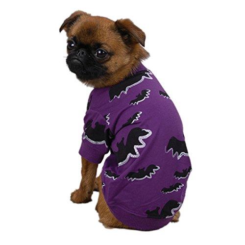 Basset Hound Costumes (Zack & Zoey Polyester/Cotton Bat Dog Tee, X-Small)
