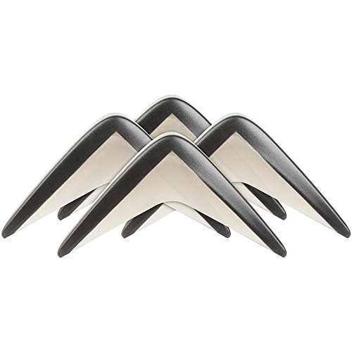 Self-Stick Furniture Corner Guard (4 piece) - Black