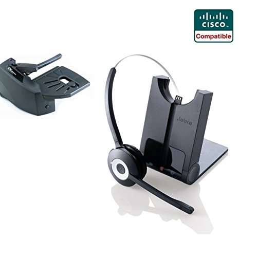 Cisco Compatible Jabra Pro 920 Cordless Headset EHS Bundle | Cisco phones: 6945, 7841, 7861, 7962g, 7965g, 7975g, 8811, 8841, 8845, 8851, 8861, 8865 (Lifter) ()