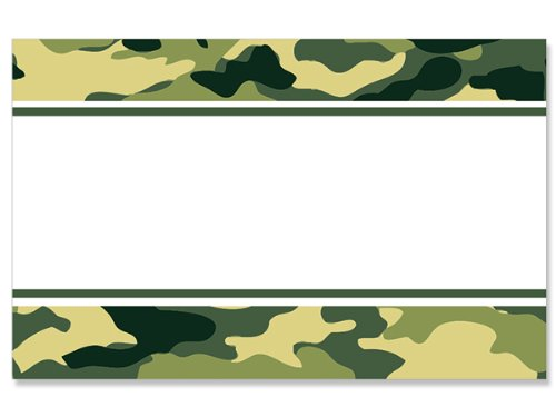 50 pack Camo Border- No SentimentEnclosure Cards (20 unit, 50 pack per unit.) by NAS
