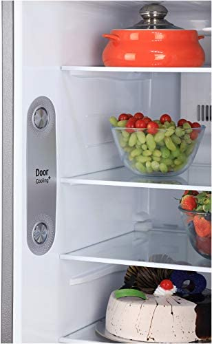 LG 260L 3 Star Smart Inverter Frost-Free Double Door Refrigerator (GL-I292RPZX, Shiny Steel, Fastest Ice Making), grey, large