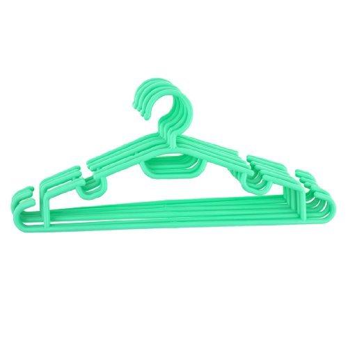 Verde de plástico al aire libre vestido de falda de la ropa del gancho colgante Perchas 6pcs
