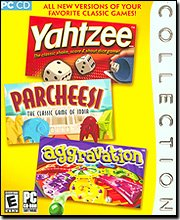 Yahtzee / Parcheesi / Aggravation - Window Parcheesi