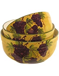 Favor 3 Tuscany Grape Serving Bowls Set Fruit Mixing online