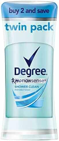 Degree Women MotionSense Antiperspirant Deodorant, Shower Clean, 2.6 oz, Twin Pack
