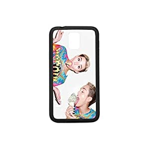 Custom Samsung Galaxy S5 Case Plastic and TPU Case Cover with Miley Cyrus Pattern Case Color Black&White