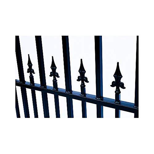 ALEKO DG12MUND Munich Style Dual Swing Galvanized Steel Driveway Security Gate 12 x 6 Feet Black