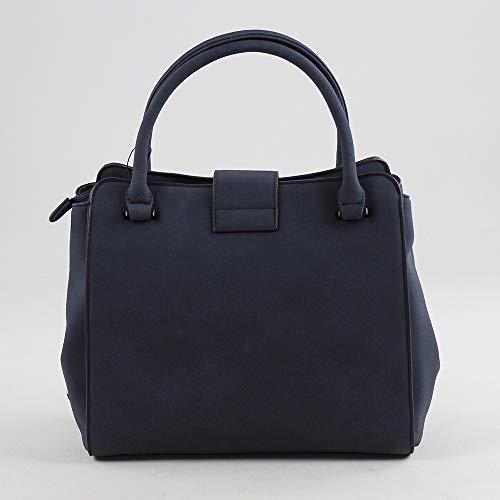 Fidenza H L x Azul Shopper 18x27x30 de para Eferri Marino Bolso x Mujer cm Mano W fPTttF