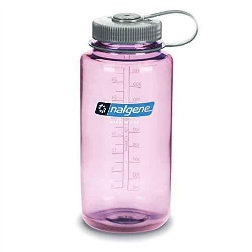 Nalgene Tritan Wide Mouth BPA-Free Water Bottle, Cosmo W/ Gray Cap, 32oz