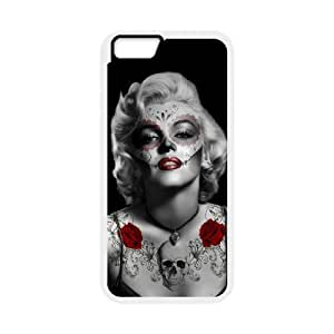 Skull Marilyn Monroe Unique Design Cover Case with Hard Shell Protection for Iphone6 plus 5.5