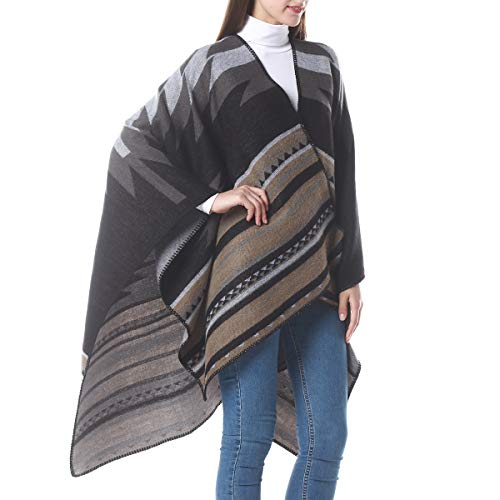 Cardigan Poncho Cape Aotbuort Women Poncho Shawl Cardigan Open Front Cape Wrap(34+Colors Available)