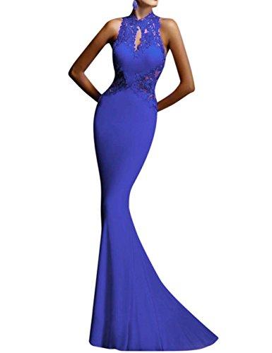 Bridal Mermaid Sexy Women's Backless Sheath Dress GlorySunshine Blue Flare Lace qAPwxXgXYE