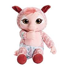ANIMAL BABIES 93428 Deluxe Electronic Plush Baby Giraffe
