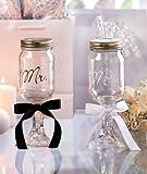 Mr. and Mrs. Mason Jar Goblets Set