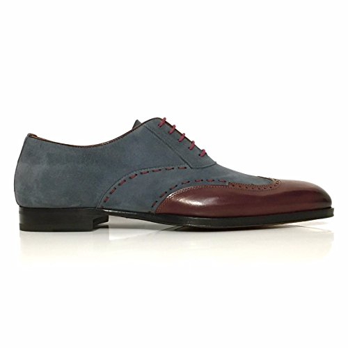 Mezlan Men's Ronda Oxford,Burgundy/Grey Calf/Suede,US 10.5 M