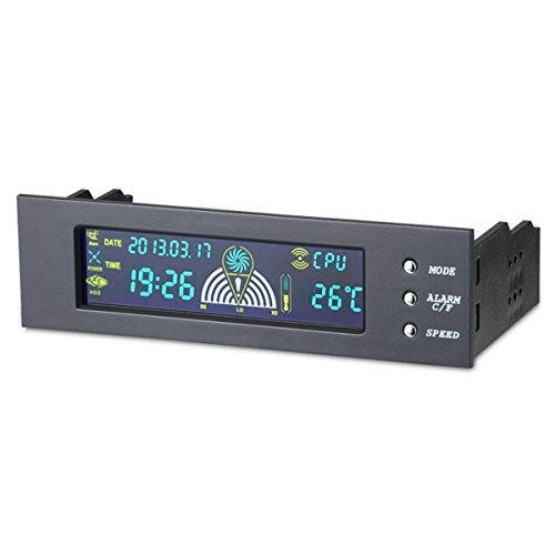 5.25'' LCD Panel Cooling Fan Speed Control Controller CPU Hd Temperature Sensor Pc Computer by vanpower