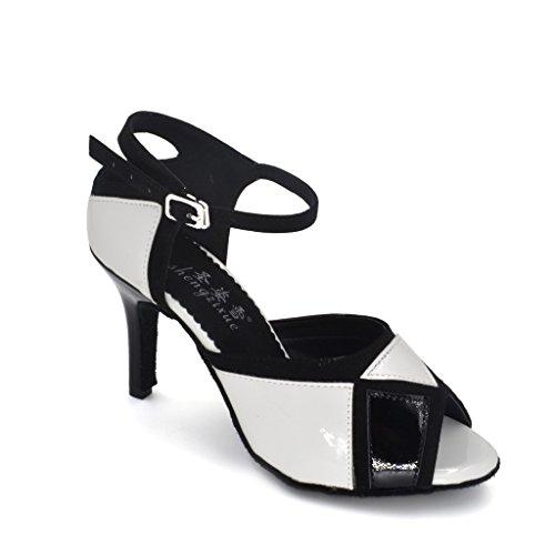 misu - Zapatillas de danza de poliuretano para mujer negro negro, color negro, talla 43
