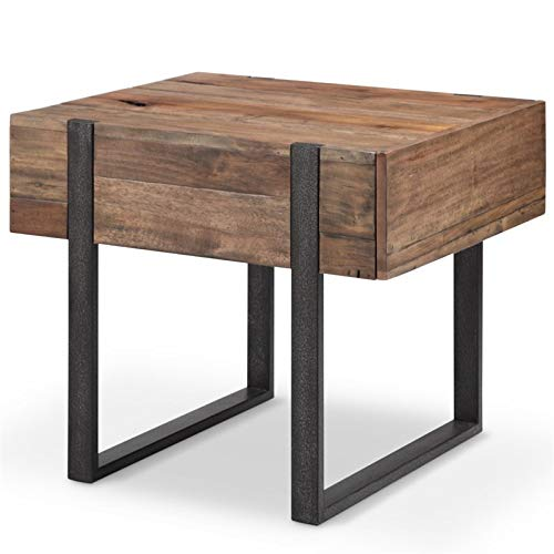 Magnussen Prescott Modern End Table in Rustic -