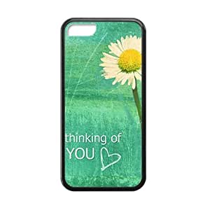Thinking of you with white flowers personalized creative custom protective phone Iphone 4/4S