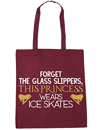 skates glass HippoWarehouse wears Tote this 10 42cm the Forget princess Shopping Bag Burgundy x38cm Beach Gym slippers litres ice nq84fqrC