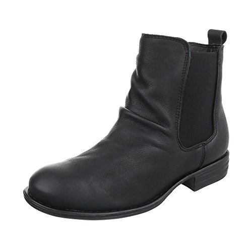 Ital-Design Women's Chelsea Boots Black XNa7kg