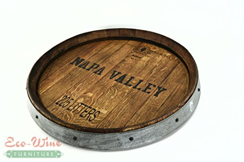 Wine Barrel Lazy Susan Napa Valley (Oak Wood Lazy Susan)