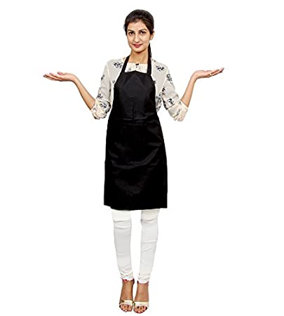 Switchon Polyester Waterproof Apron (Black, 22-inch, 6377)