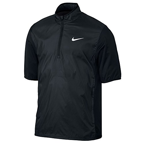 (Nike Golf Closeout Men's Shield Short Sleeve Jacket (Black))