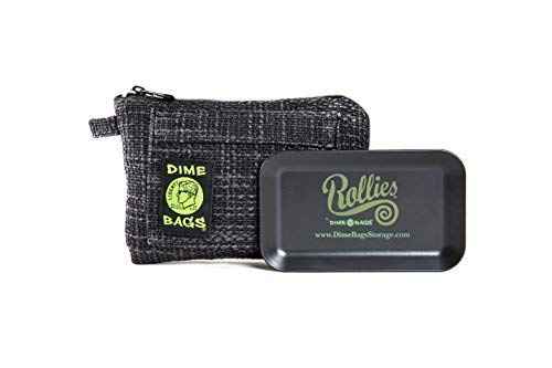 Rollies Pouch -Padded Pouch w/Rolling Tray & Removable Smell Proof...